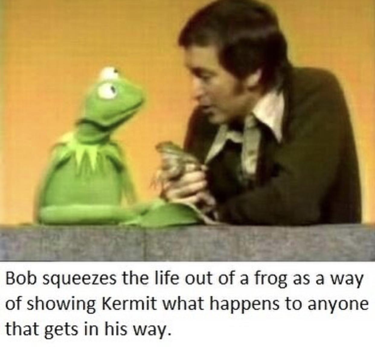 Don't disrespect bob kermit - meme