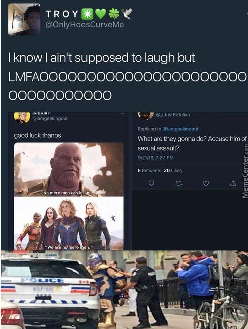 poor thanos - meme