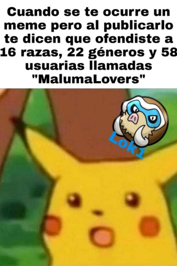Nueva marca de agua. ACLARACIÓN: No todas se llaman MalumaLovers, sino que son derivados - meme