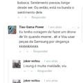 Alguém não gosta da Samsung.