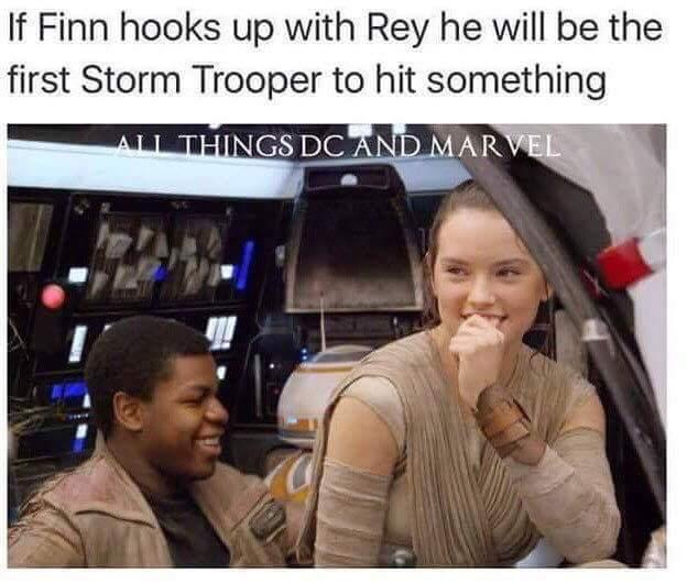 Isn't Finn like spineless now? - meme