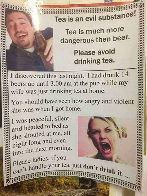 Tea is better than coffee...?? - meme