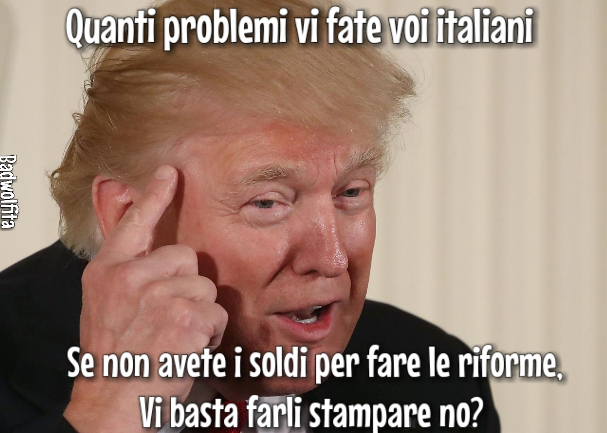 A real tragic, true ennesima cavolata di Trump - meme