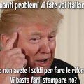A real tragic, true ennesima cavolata di Trump