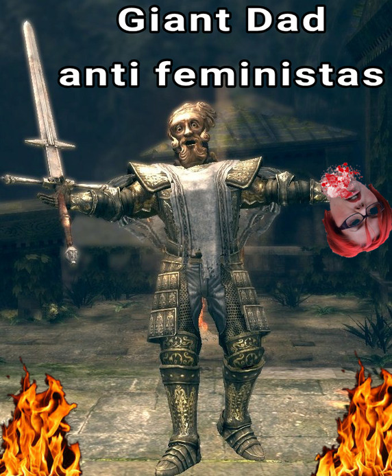 Giant Dad Anti feministas - meme