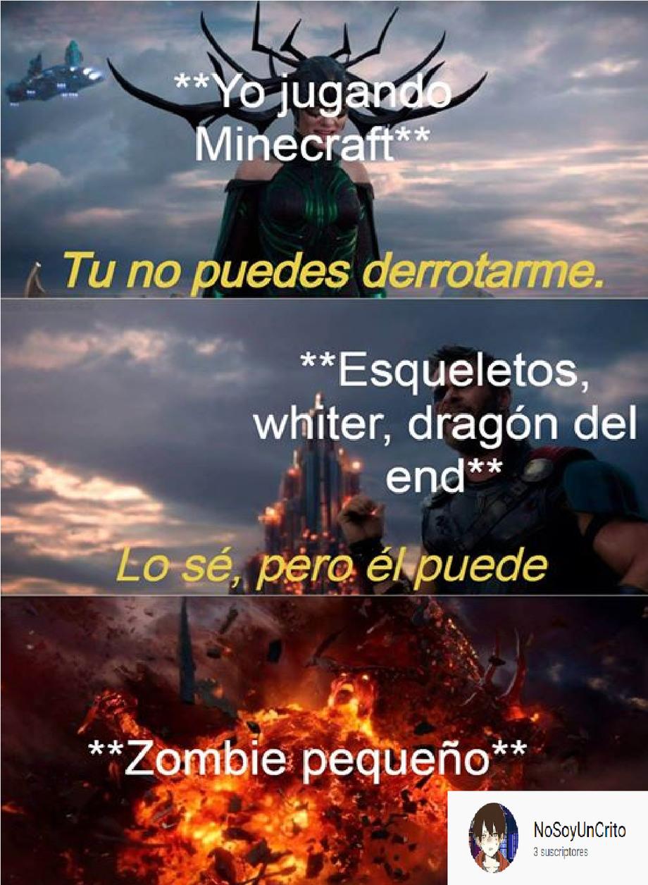 el poder del zombie pequeño - meme