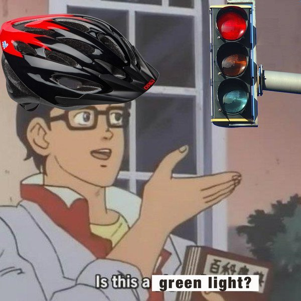 Cyclists are above the law - meme