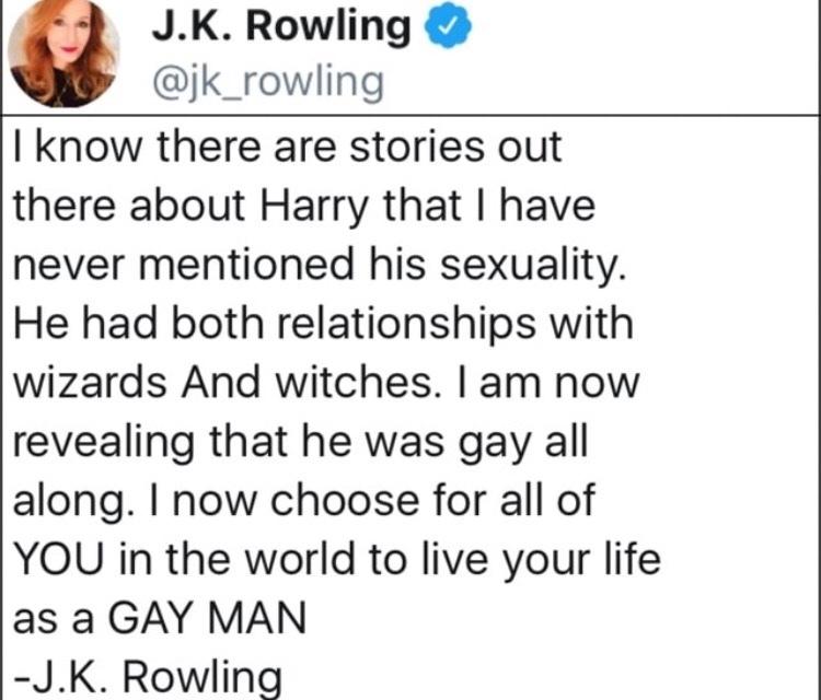 J.K. tRowling - meme