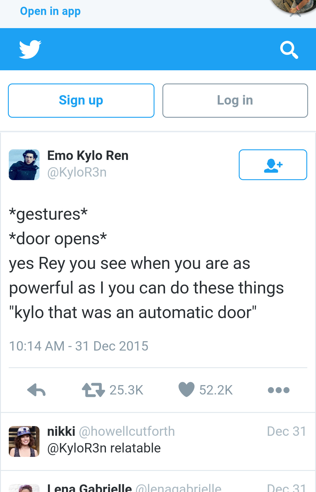 The force is strong with Kylo - meme