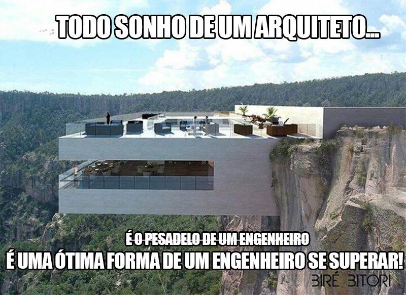 acho que o engenheiro tá pegando a irmã do arquiteto.......... - meme