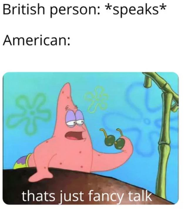 Facncy talk - meme
