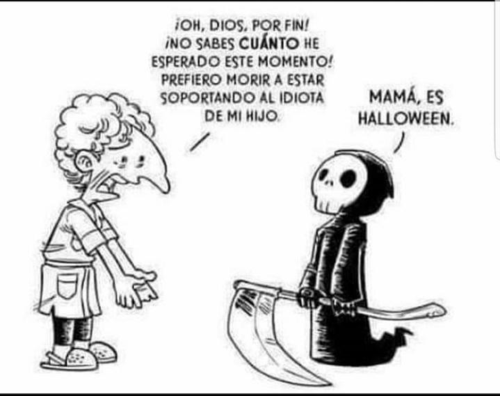 Mama, es Halloween - meme