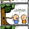 Title is a tree hugger