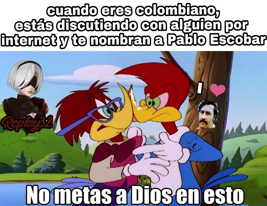 Hey, no se enojen, soy colombiano - meme