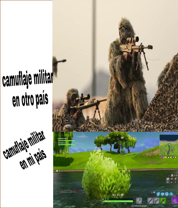 Los camuflajes - meme