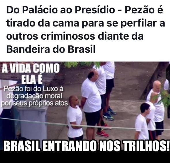 Brasil ao rumo certo - meme