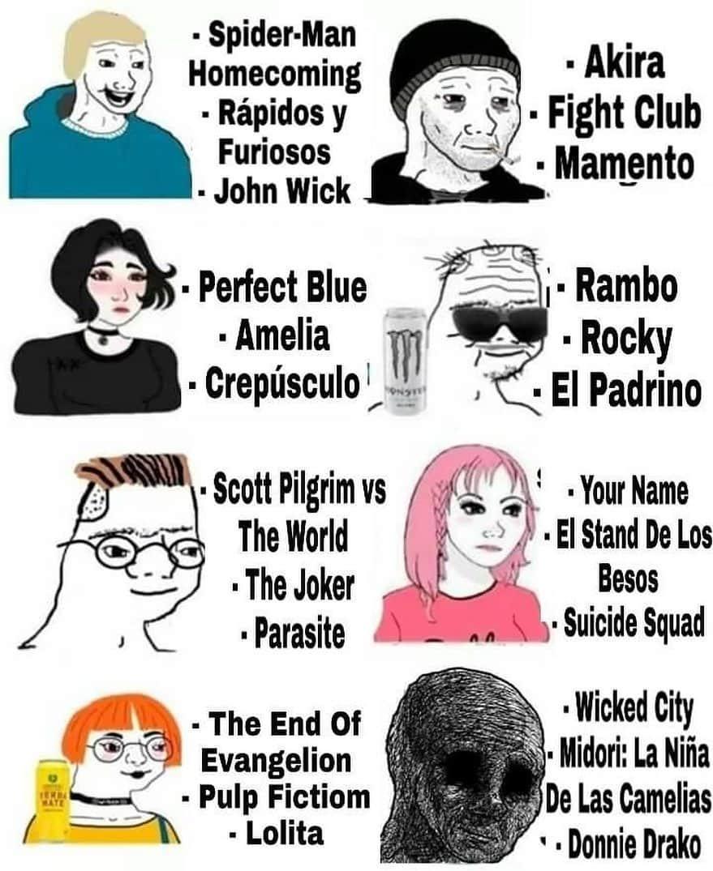 Tipos de Cinéfilos - meme