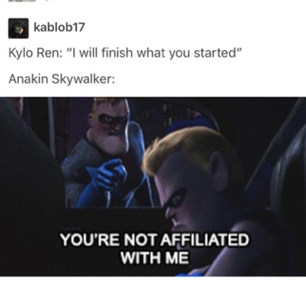 *Kylo throws a big ol tantrum* - meme