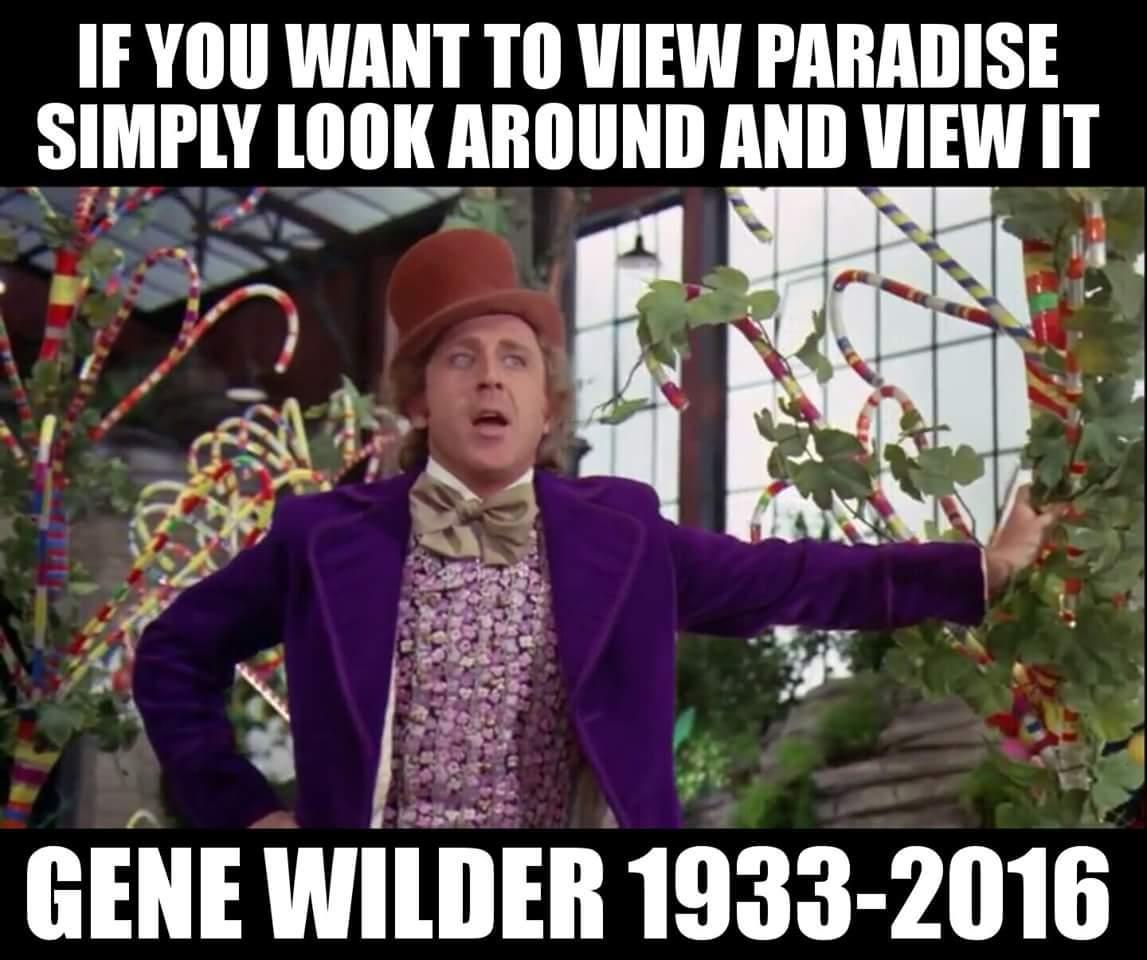 RIP Gene. Thank You. - meme