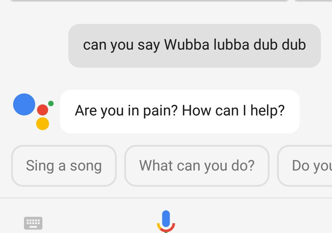 I was talking to Google when  - meme