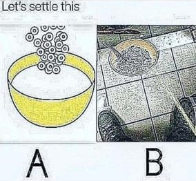 I vote for B, what about you guys - meme