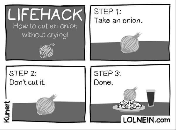 Onions these days - meme