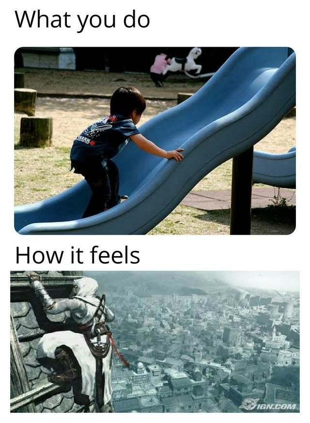 What you do vs how it feels - meme