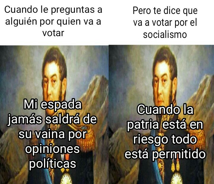 San Martín - meme