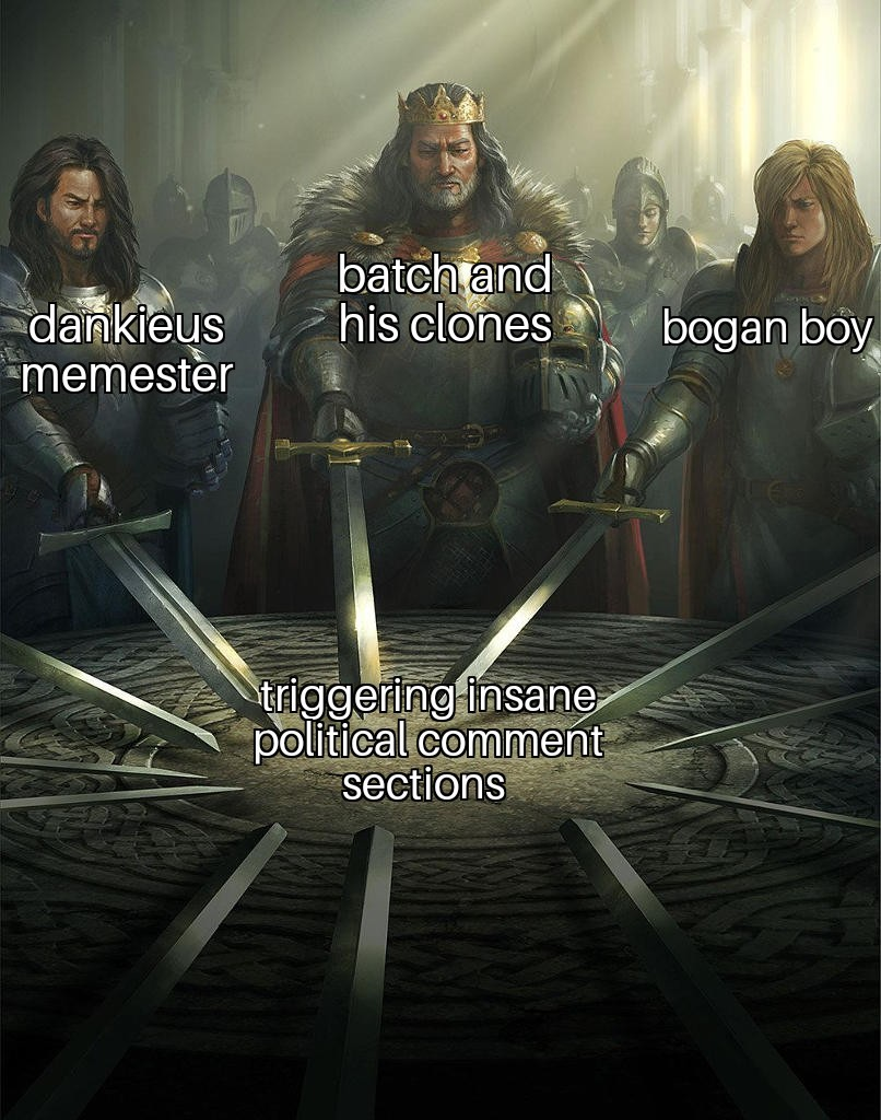 They're prolly all the same person somehow - meme