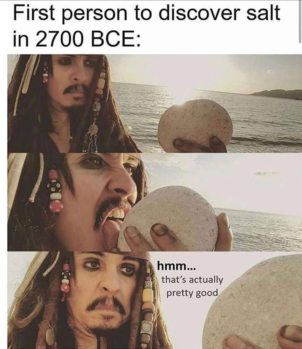 Salt be like - meme