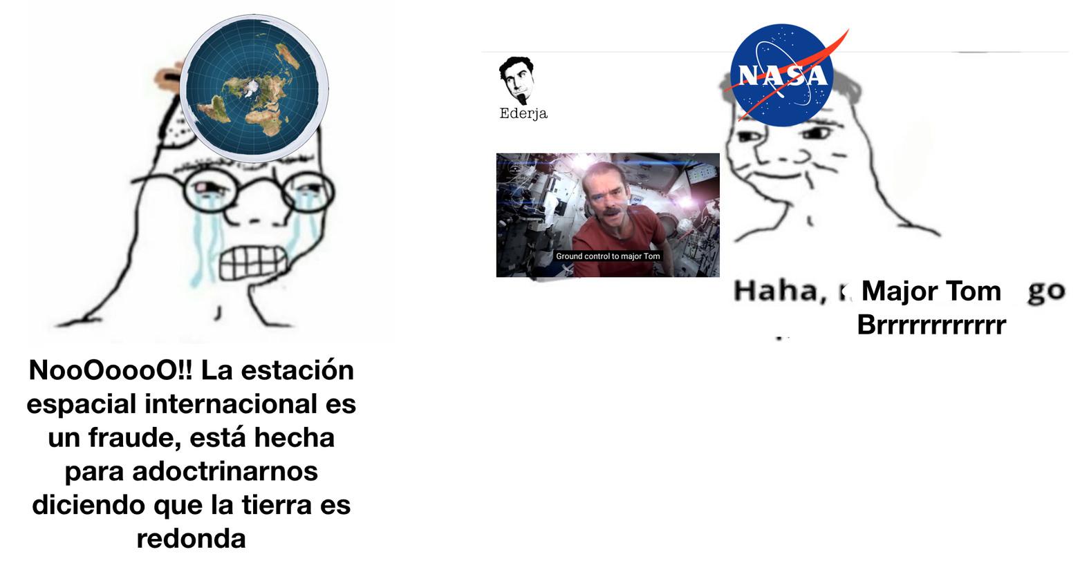 Chris Hadfield hizo un vídeo cantando Space Oddity (muy buena canción) en la Estación Espacial Internacional - meme