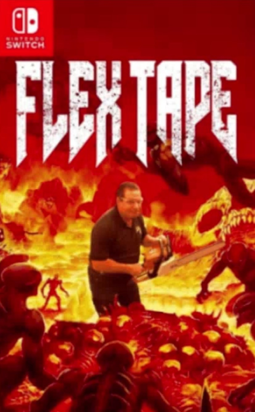 TO SHOW YOU THE POWER OF FLEX TAPE *bruit de tronçonneuse* I SAW THE ICON OF SIN IN HALF - meme