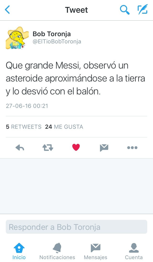 un grande el Messi :v - meme
