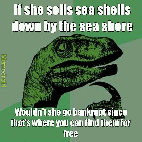 Free shells - meme