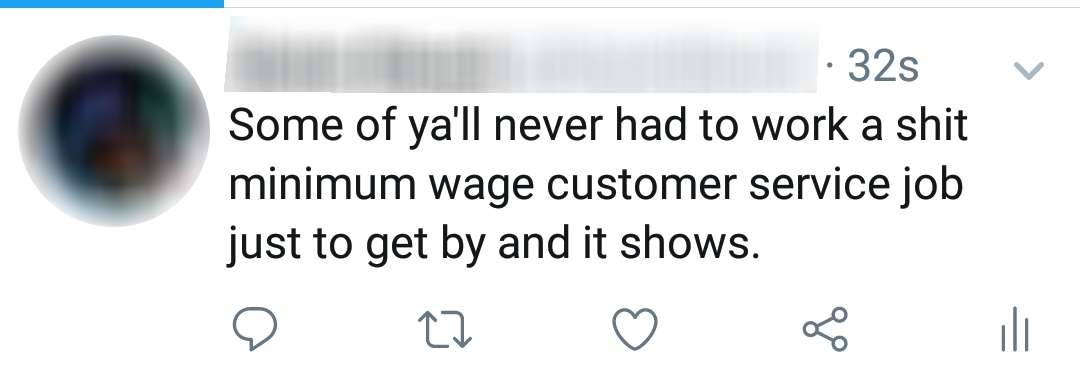 Stop taking out your own problems on customer service workers who had nothing to do with your bad day - meme