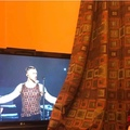 why is he wearing my curtains???