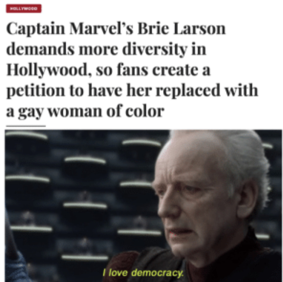 I love democracy - meme