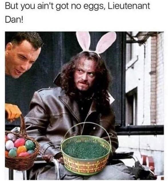 No eggs - meme