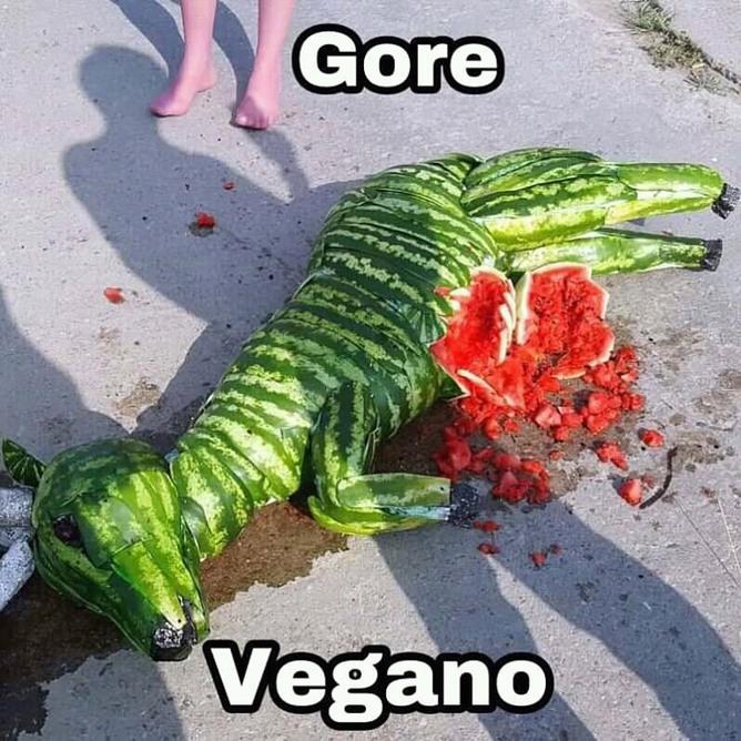 Gore vegano - meme