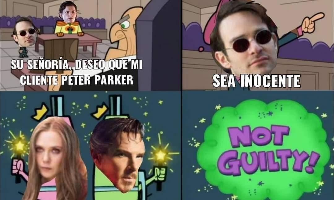 La nueva película del spiderman se viene potente - meme
