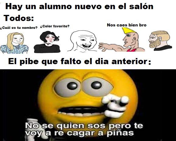 ES EL PIBE VIOLENTO PD: LE VA A LANZAR PIÑAS - meme