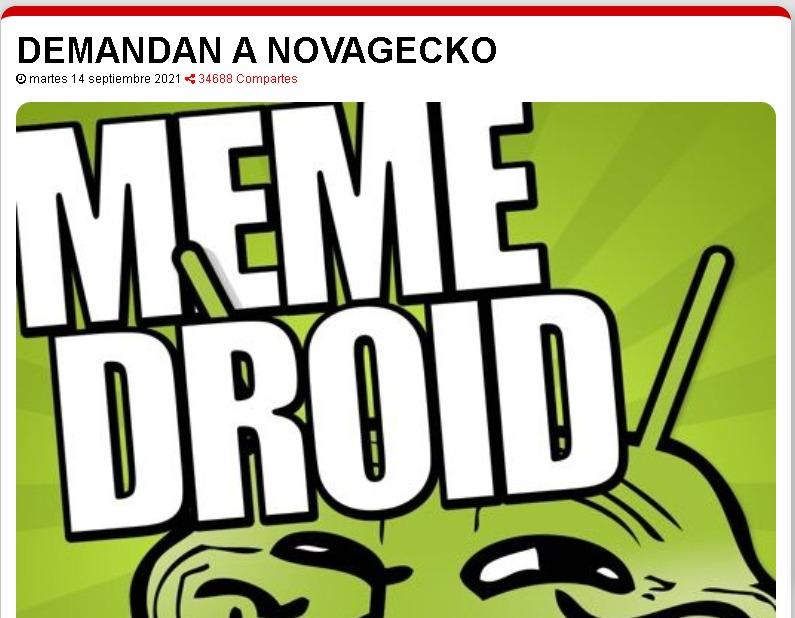https://www.12minutos.com/60f20fc25ff73/demandan-a-novagecko.html Link de la pagina. - meme