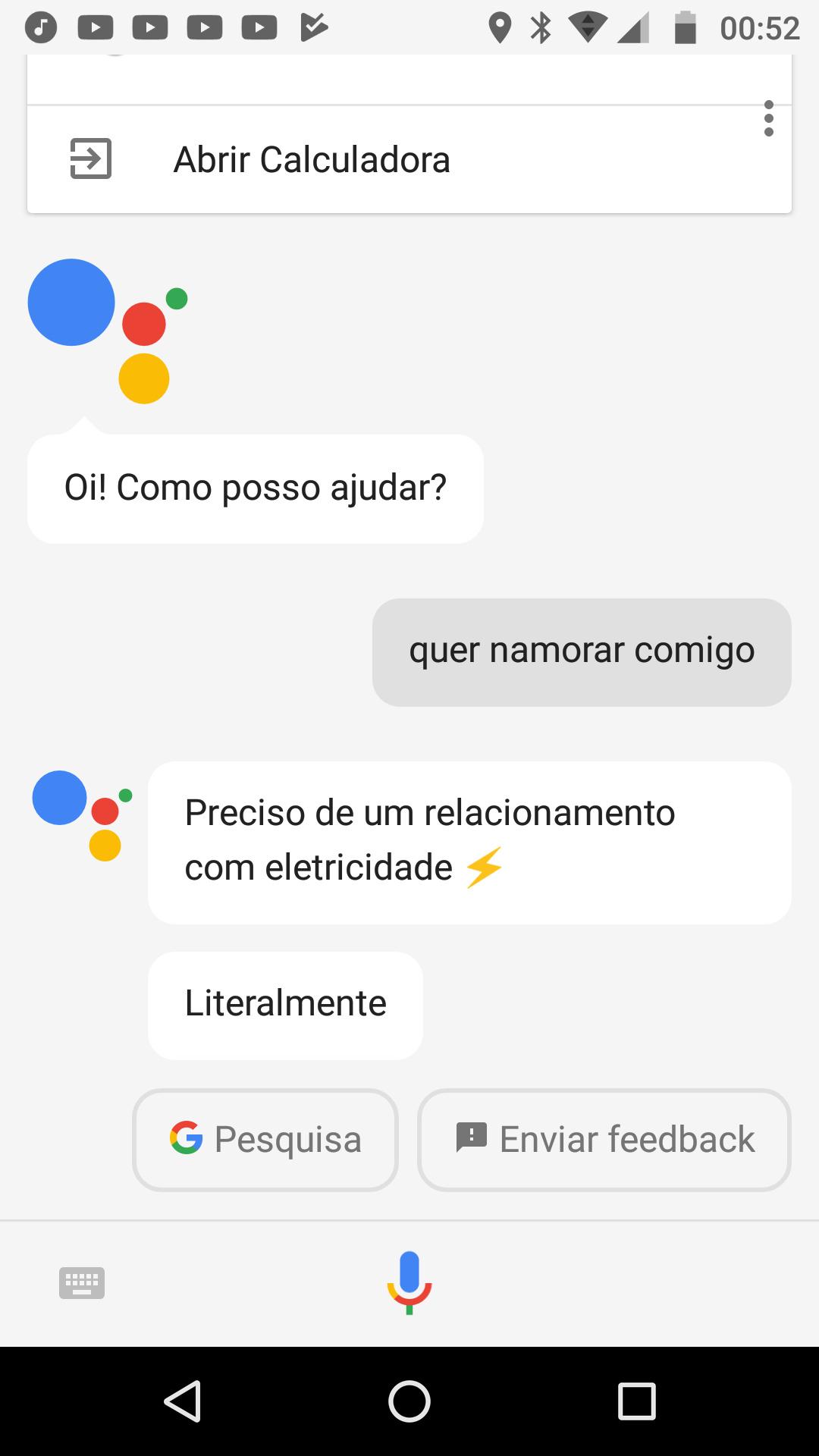 Eis que a assistente do Google é elétrica ... - meme