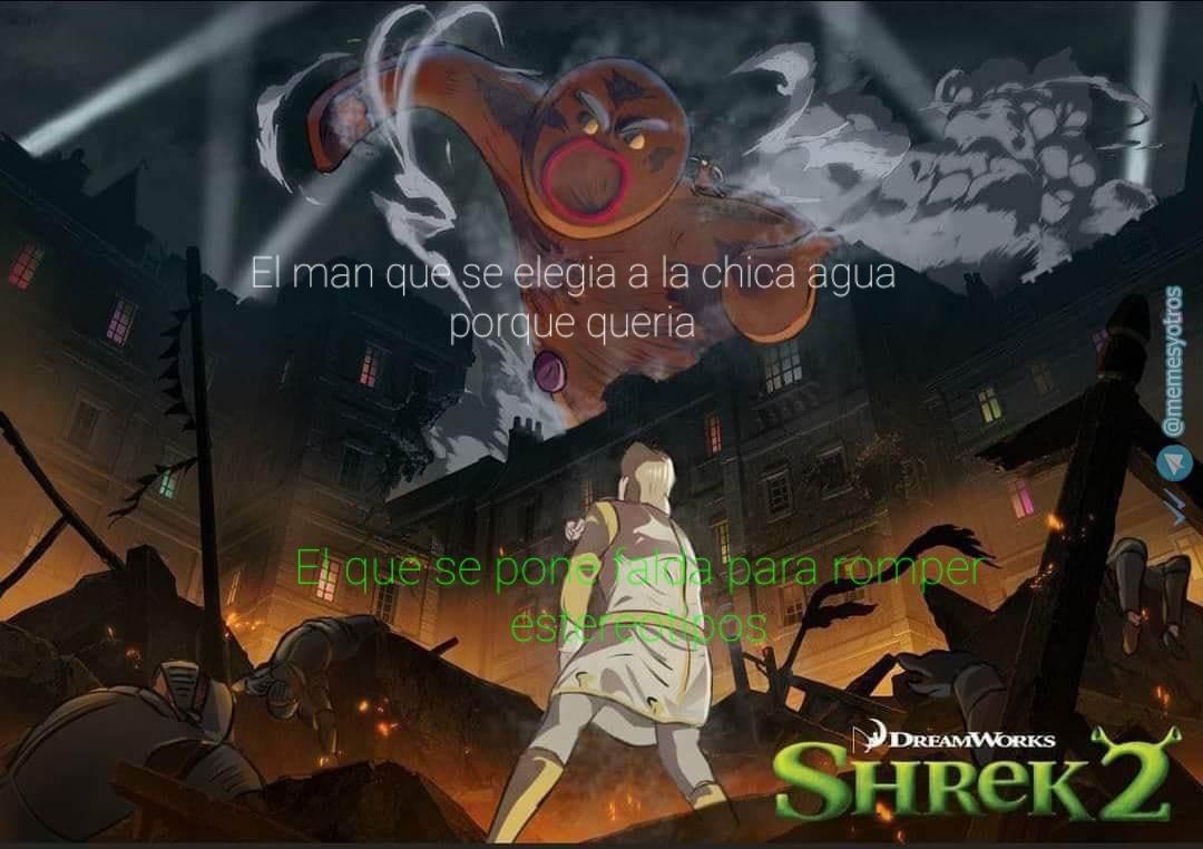 Shrek no kyojin (espero que usen más la plantilla) - meme