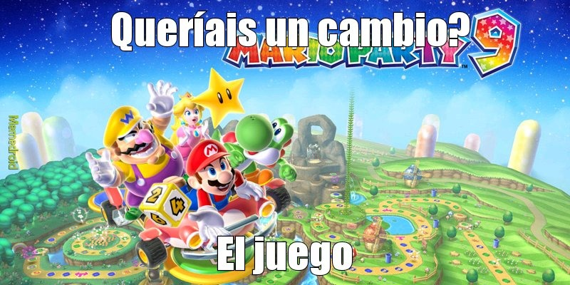 Le hice un remake a mi primer meme, aún así Mario Party 9 me encanta