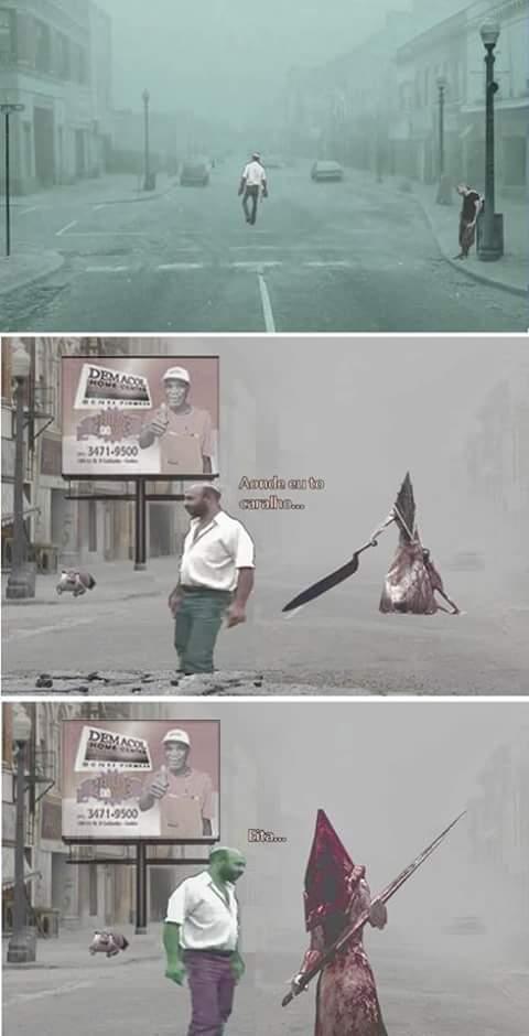 Aventuras em Silent Hill part 2 - meme