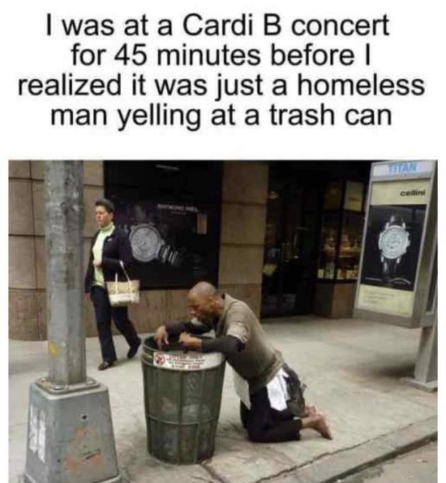 cardi b sucks - meme