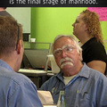 Achieving four mustaches is the final stage of manhood