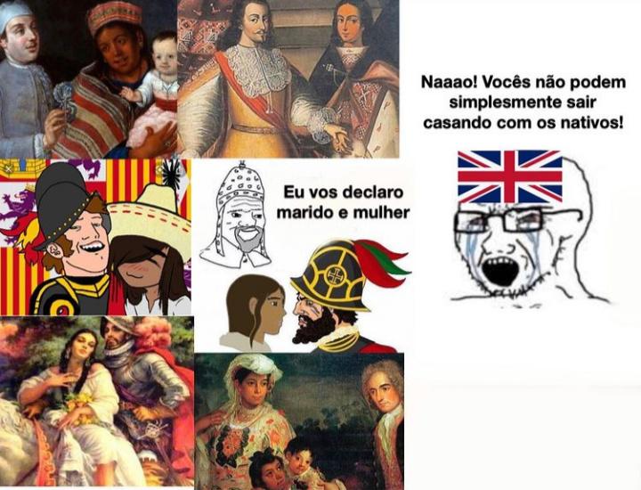 Inglês tudo viado, dispensar umas morena dessa - meme