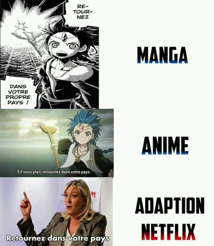 Netflix adaptation... - meme
